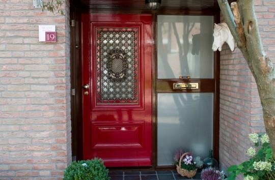 Luxe rode voordeur